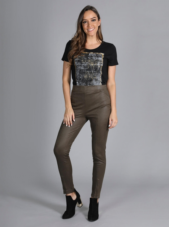 Leggings verde olivo